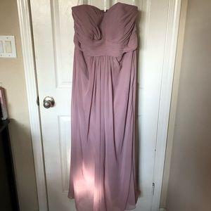 Dusty Rose/Mauve David's Bridal strapless dress